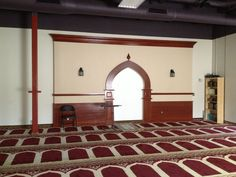 Newly constructed Mihrab at Northwest Islamic Community Center in Plymouth MN.