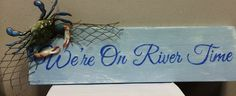 River sign