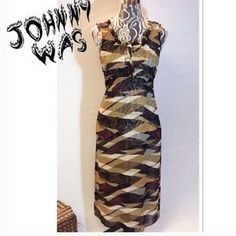 Johnny Was Dresses & Skirts - JOHNNY WAS % SILK MULTI COLOR MAXI DRESS