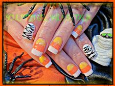 by gelnailzbytalia from Nail Art Gallery Cute Halloween Nails, Halloween Candy, Candy Corn, Hair Loss Remedies, Nail Art Galleries, Nails Magazine, Hair And Nails, Polish, My Favorite Things