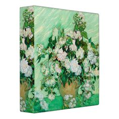 Vase with Roses by Vincent Van Gogh Binder