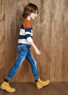 Slim-fit dark jeans Teen Boy Fashion, Little Boy Fashion, Cute 13 Year Old Boys, Cute Kids, Dark Jeans, Boys Jeans, Kid Styles, Kind Mode, Pretty Boys