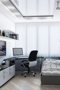 Home Study Rooms, House Rooms, Small Apartment Bedrooms, Small Apartments, Room Ideas Bedroom, Bedroom Decor, Teenage Room, Cool Rooms, My New Room