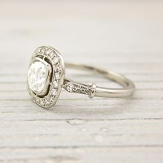 Old Cushion Cut Engagement Ring