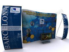 Presentación 3D para publicidad creativa | SP Integrales Presentación de roll-up y photocall para promoción de Endesa