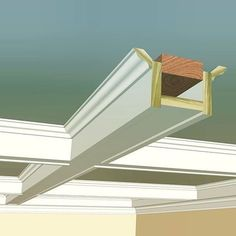 Here is the rendered Craftsman style coffered ceiling built entirely from profiles found in our in-stock collection. On this layout you'll see that the main and cross beam details are identical. The wall beam will be a little more built-up to replicate traditional layouts found in Craftsman style homes. We'll show you that detail in a moment.