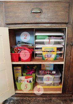 Kid's Arts & Crafts Storage, love the puzzle organization.