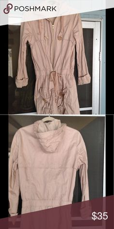 Divided by M & M Cargo Jacket Long hooded cargo jacket by Divided. Very gently used in excellent condition, beige, very comfortable. Divided Jackets & Coats Utility Jackets