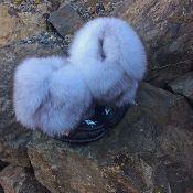 Norquay blue fox Mukluks min mukluks black