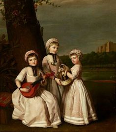 George James, The Three Waldegrave Sisters, 1768. Oil on canvas, Marquess of Cholmondeley, Houghton Hall. Photo: Pete Huggins, by kind permission of Houghton Hall