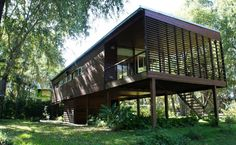 Rest House, D House, Tiny House Cabin, House In The Woods, Tree House Plans, Small Cottage Homes, Thai House, Casas Containers, House On Stilts