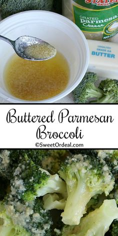 Seriously, the best broccoli side dish I've ever had, and it's only 3 ingredients. Not only is it easy to make, but it goes with most everything. The melted butter is mixed with grated Parmesan cheese, which is then drizzled over the crisp-tender steamed broccoli. So delicious. This Buttered Parmesan Broccoli recipe is just too good not to share. Steamed Broccoli Recipes, Parmesan Broccoli, Broccoli And Cheese, Side Dishes Easy, Side Dish Recipes, Parmesan Cheese Sauce, Spinach Rolls, Melted Butter, Original Recipe