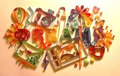 クイリングとは専用の紙を丸めたり切ったりして作る、今注目のアートなんです! 様々な手法があるから、どんどんのめり込んじゃいますよ♡