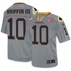 Nike Washington Redskins Robert Griffin III Elite Lights Out Grey Youth NFL  Stitched Jersey a2178462c