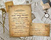 Wedding Invite and RSVP - Darchelle Vintage Elegant Personalized Card Suite