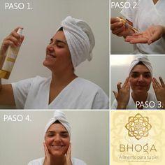 * Aceite Ozonizado De Semilla De Jojoba PASO 1. Rocea directamente en todo el rostro hasta tener el cutis húmedo. PASO 2. Aplica de 4 a 5 gotitas de tu Aceite en la palma de la mano. PASO 3. Riega tu Aceite en cutis PASO 4. Disfruta de un cutis humectado y joven en cuestión de segundos...