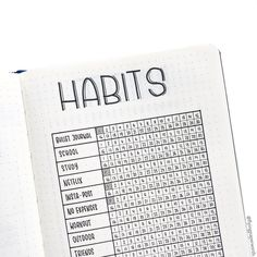 Bullet journal habit tracker. | @flyingpaperwords