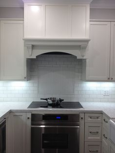 Under Cabinet Lighting With White Kitchen Cabinets And fasade backsplash for kitchen decoration ideas