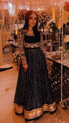 Black Wedding Dress by Maheen Shah Latest Collection