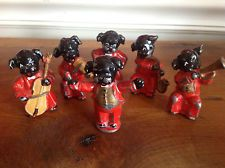 Vintage Metal Dog Band Figurines