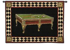 Billiards Wall Tapestry at Art.com