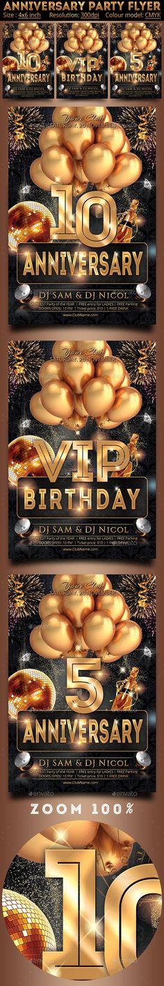 Anniversary Party Flyer Design Tempalte Download: http://graphicriver.net/item/anniversary-party-flyer/12505794?ref=ksioks