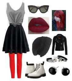 """""""Cute Emo"""" by alivia-yates on Polyvore featuring J Brand, Chicwish, Dr. Martens, Victoria Beckham, Laundromat and Superdry"""
