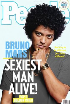 Bruno Mars on cover of People Magazine.