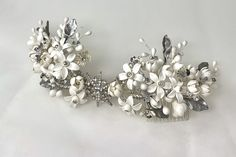 Wedding Hair Pins, Headpiece Wedding, Bridal Headpieces, Wedding Bride, Bridal Crown, Bridal Hair, Ceramic Flowers, Orange Blossom, Floral Crown