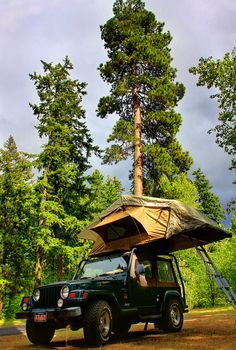 Our ARB Rooftop Tent at Toll Bridge Campground, Hood River OR.