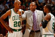 Ray Allen, Rajon Rondo and the Boston Celtics knocked off the Heat in Miami on April 11, 2012 at AmericanAirlines Arena, 115-107. #iamaceltic #iamnotsouthbeach