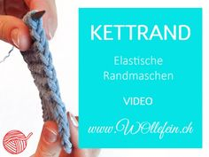 How to knit an stretchy slipped selvedge with Video. Kettrand - elastische Randmaschen stricken lernen mit Video