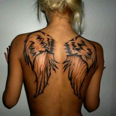 Angel fly tattoo
