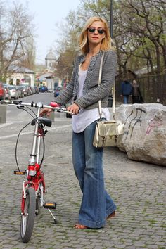 Dana Rogoz Wide Leg Jeans, Every Woman, Looking For Women, Flare Jeans, Bell Bottom Jeans, Women Wear, Clothes For Women, Bikers, My Style