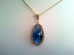 Blue Sapphire wedding Necklace  Gemstone Necklace  by LaLaCrystal, $28.00