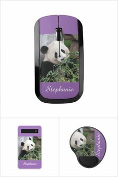 Purple Tech Gifts - Purple - solid or with giant panda, tech gifts just in time for Christmas. Great gifts for techies (which is almost everyone, now). A matching set of tech products including a portable battery charger, wireless mouse, and mousepad. #zazzle
