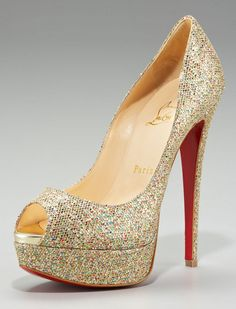 If only my groom was a bit taller!  Louboutin stilletos.