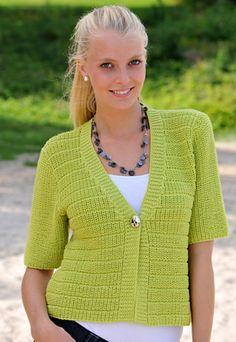 Trøjen i perlerib er skøn over sommerens toppe og lette kjoler