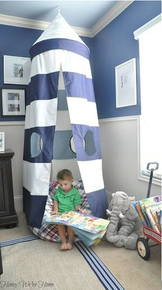 Kid's Reading Nook // Honey We're Home