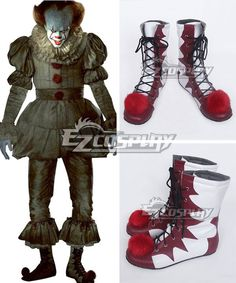 Stephen King's It 2017 Movie Pennywise White Shoes Cosplay Boots