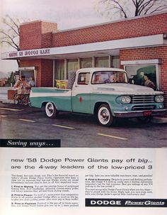 1958 Dodge Sweptside Pick-up. This is just a beautiful truck!