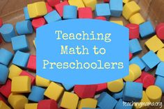 Here's what your preschooler should work on in math before Kindergarten: Patterns and Relationships: Sorts by color, shape, and size Orders several objects based on one attribute Recognizes simple patterns and can duplicate them