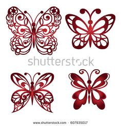 Find Set Decorative Butterflies Vector Illustration stock images in HD and millions of other royalty-free stock photos, illustrations and vectors in the Shutterstock collection. Butterfly Gif, Butterfly Background, Butterfly Drawing, Butterfly Template, Paper Butterflies, Butterfly Painting, Giant Paper Flowers, Butterfly Crafts, Butterfly Wallpaper