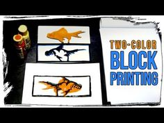Simple Two-color Block Printing Technique - YouTube