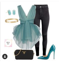 Dressy Outfits, Night Outfits, Chic Outfits, Polyvore Outfits, Look Fashion, Womens Fashion, Fashion Trends, 2000s Fashion, Korean Fashion