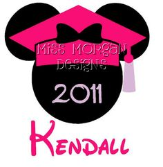 Personalized Graduation Minnie Mouse Disney iron on by MissMorgan, $7.00