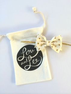 Baby bow headband  Ivory leather metallic gold by louandlee, $19.00