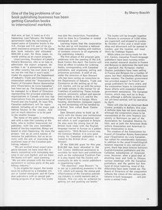 Communiqué, Canadian Conference of the Arts magazine, [p. 19]