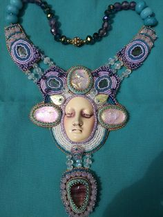 Face by Diane Briegleb. Bead work by Niki Myers-Rogerson