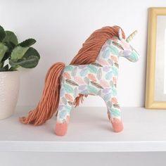 Unicorn stuffed animal, unicorn toy, waldorf fairy unicorn, fabric toy soft unicorn, nursery decor unicorn plush toy,